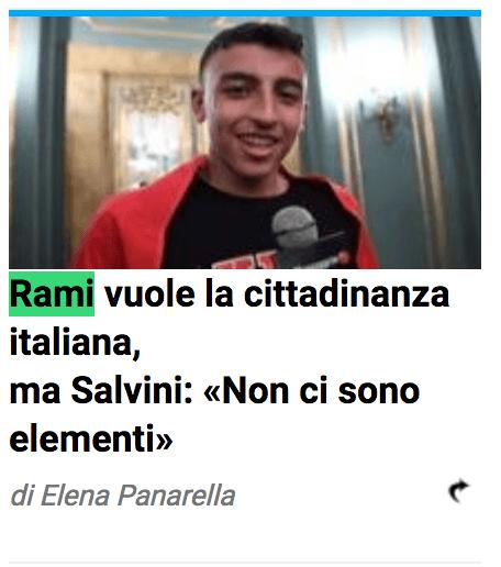 Nessun giornale mainstream pubblica ammissione padre di Ramy: come mai?