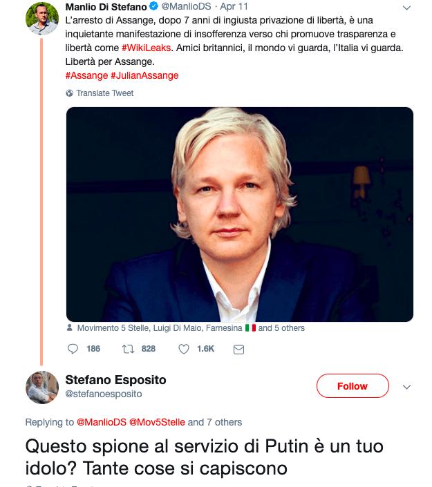 In Italia c'è chi esulta per l'arresto di Julian Assange: i giornalisti «dem»