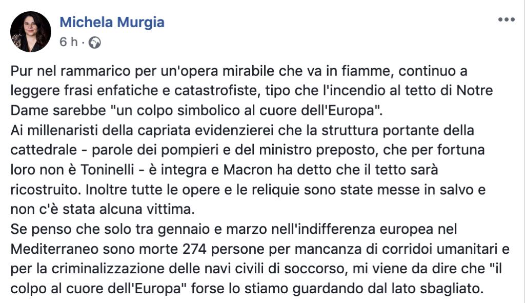 Murgia e Saviano: su Notre Dame scatta campagna pro-migranti