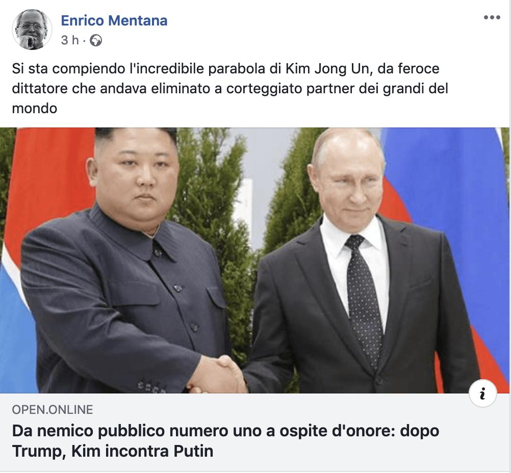 Putin incontra Kim, e a qualcuno non va giù