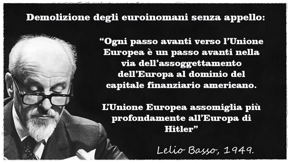 Francesco Amodeo: l'Unione Europea fu progettata in America