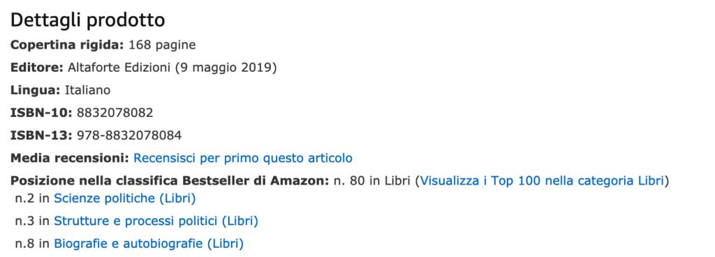 """Amazon: e le """"proteste"""" fanno volare il libro su Salvini"""