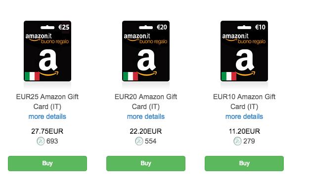 Come comprare buoni amazon con bitcoin