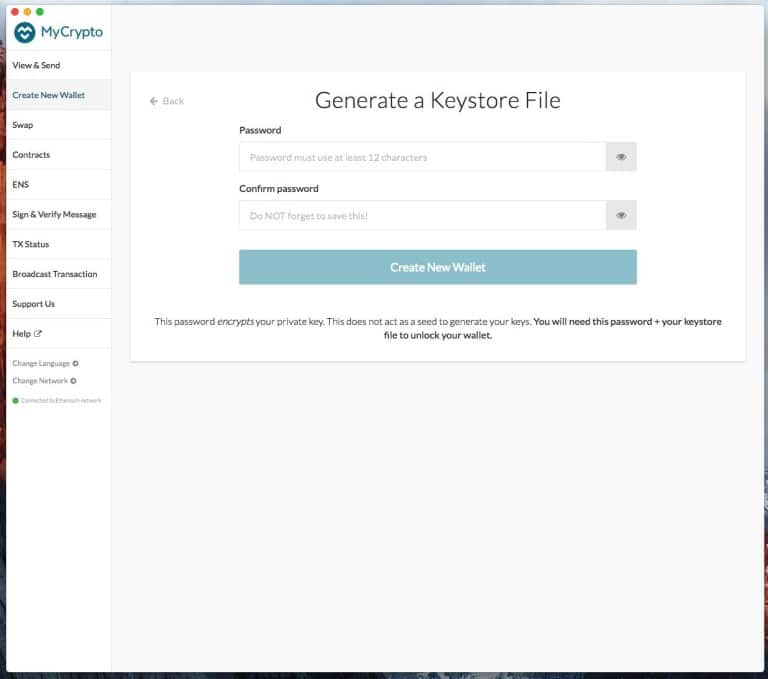 MyCrypto: wallet Ethereum ed ERC20 discendente da MyEtherWallet