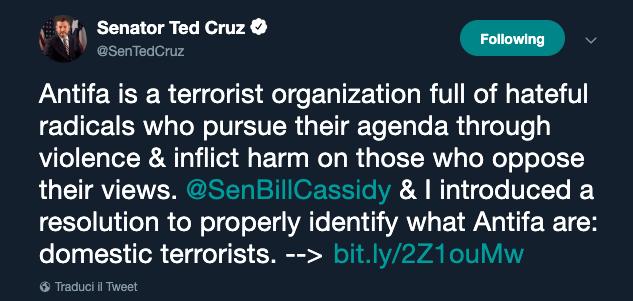 Ted Cruz Antifa