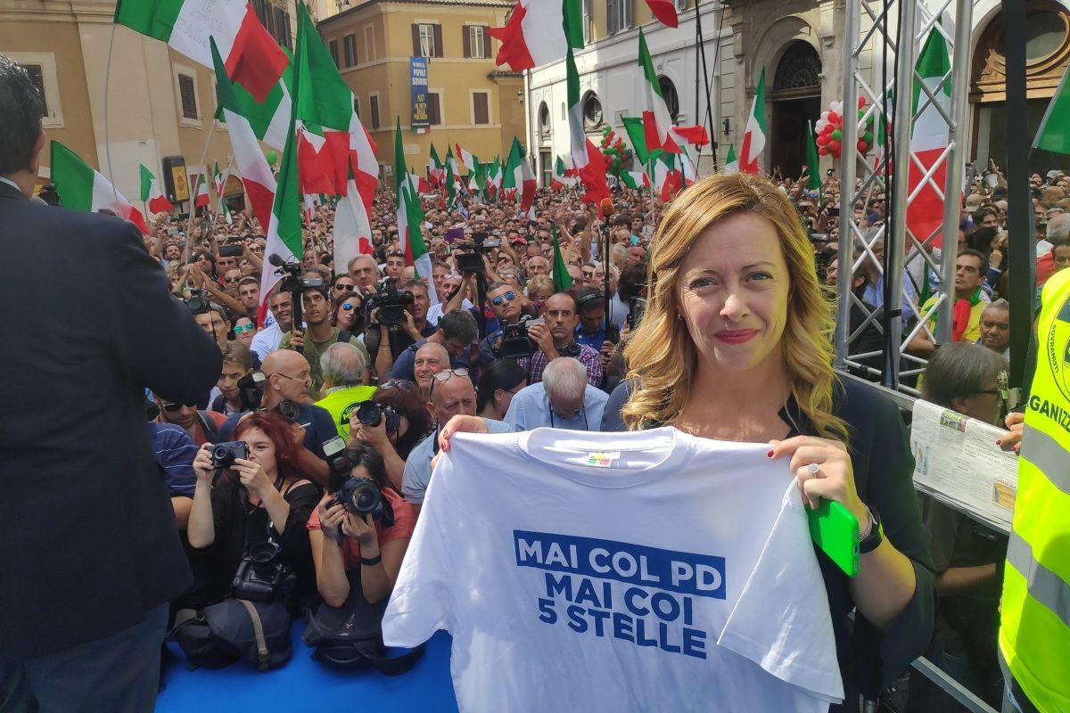 Ieri a Montecitorio la manifestazione dei patrioti indetta da Fratelli d'Italia