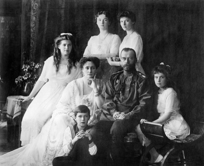 La famiglia Romanov al completo