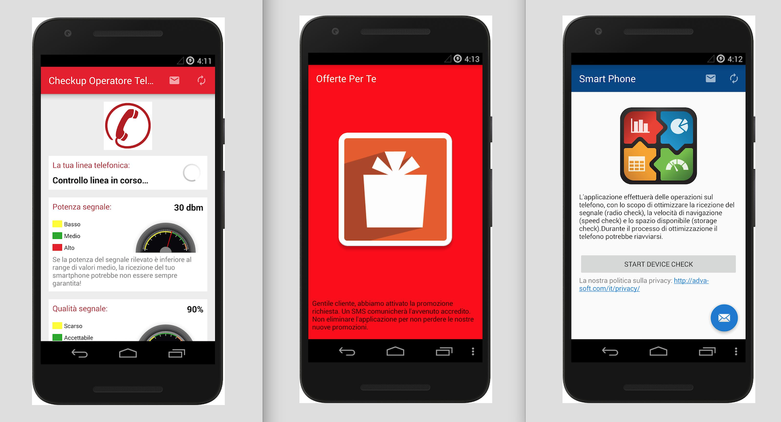 Alcune app contenenti il software-spia Exodus, ora non più disponibili sugli app store (Security Without Borders)