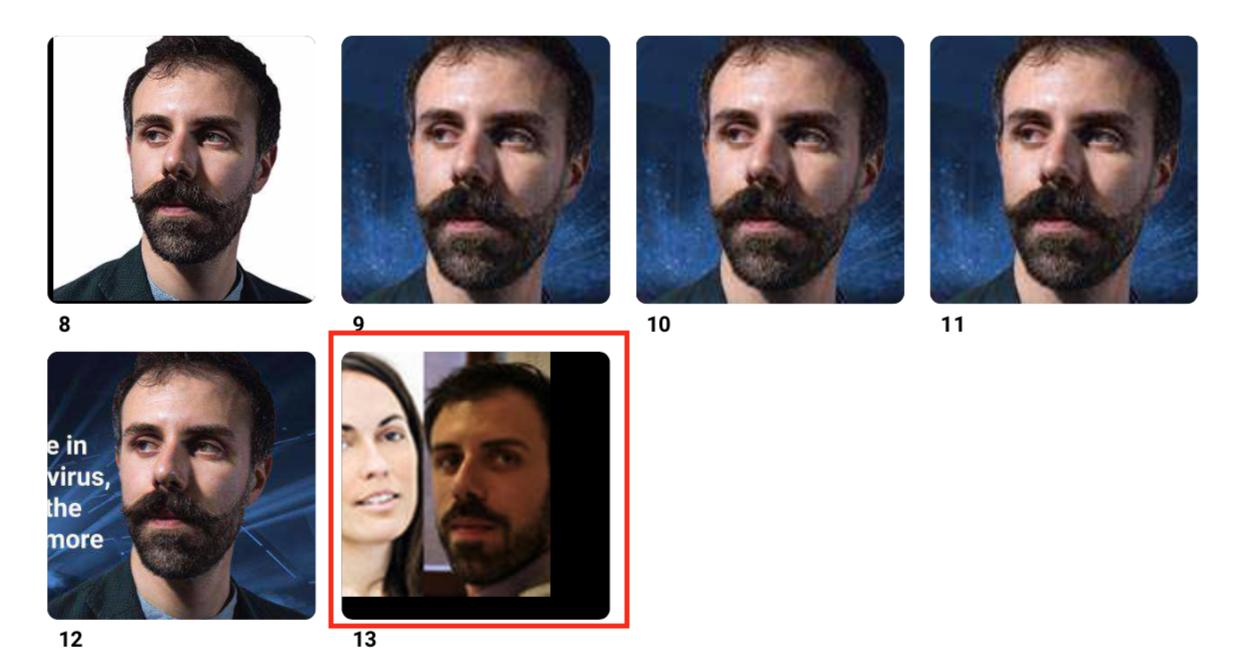 Foto di una collega associata al mio volto e finita nel database di Clearview Ai