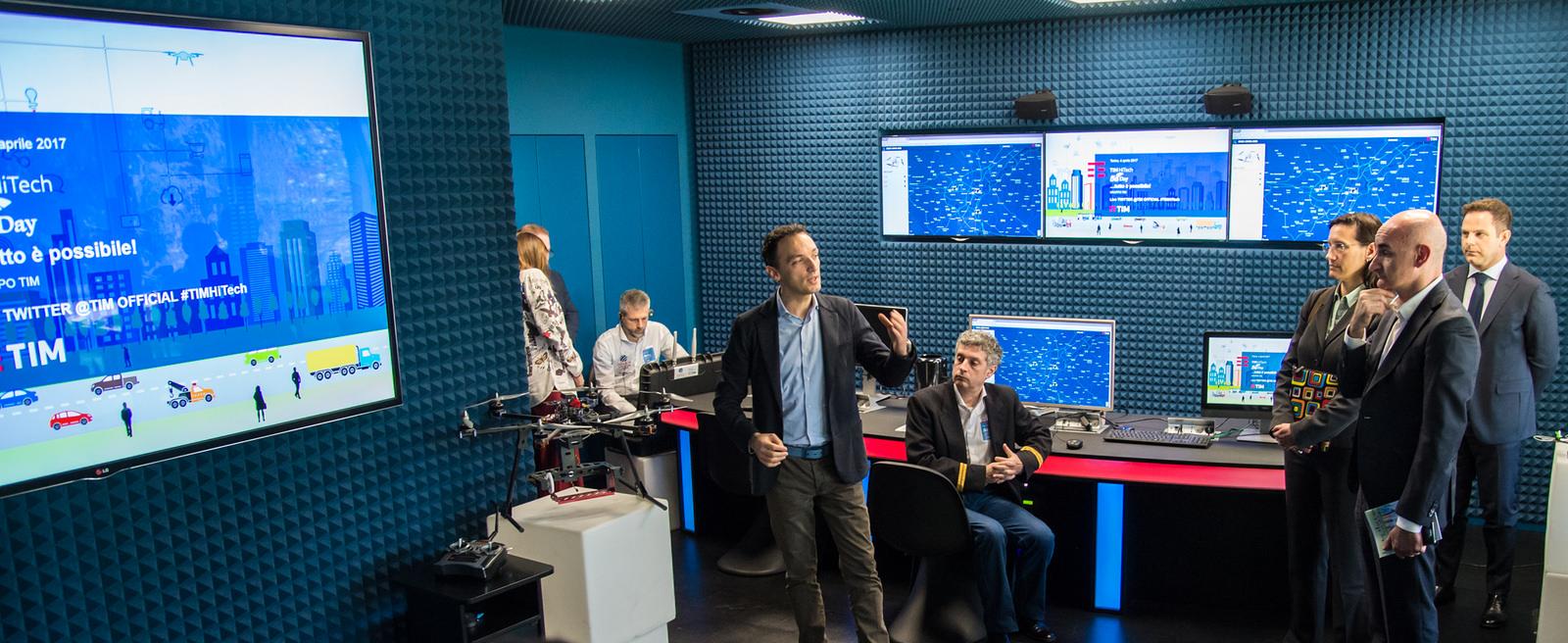 Il centro studio su droni e 5G di Tim (foto Tim)