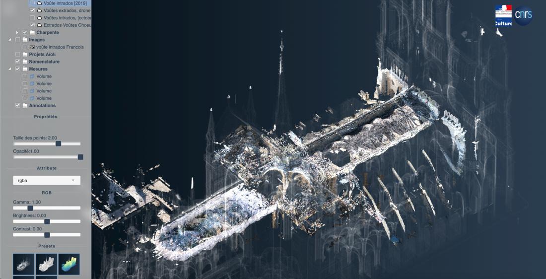 Tutte le tecnologie in campo per ricostruire Notre-Dame