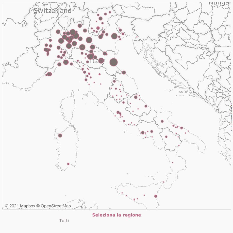 Mappa dei sanitari positivi da pazientidimenticati.it